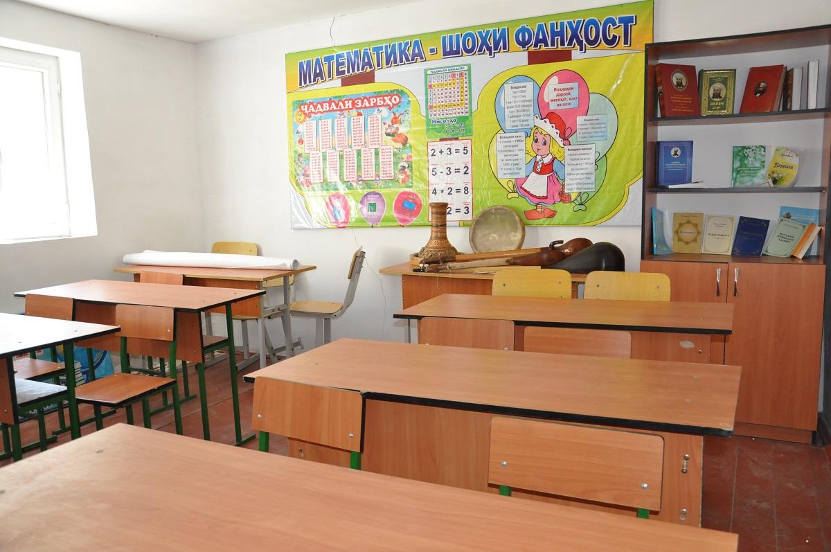 Класс в самой современной школе №30 в ущелье Ягноб. Фото: CABAR.asia